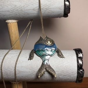 Jewelry - Fish Necklace Extra Long Length Fashion Jewelry